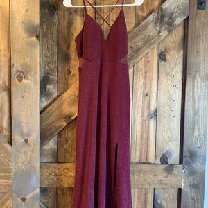 Sparkly Maroon Prom/ Formal Dress